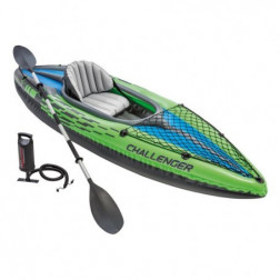 KAYAK INFLABLE CHALLENGER 1 PERS+REMOS+INFL INTEX