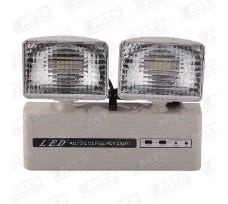 LAMPARA EMERGENCIA 2 FOCOS+24 LED AT-204 VKB