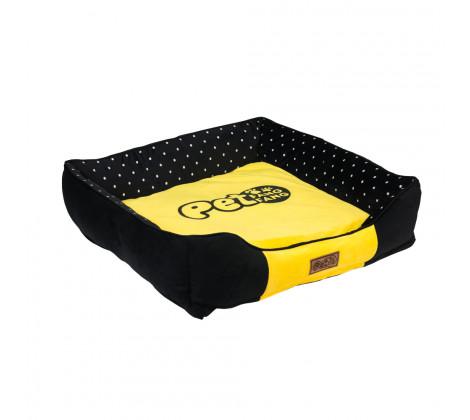 Cama Mascota 75*70cm Negra Amarilla Bighouse