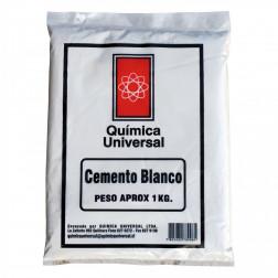 CEMENTO BLANCO BOLSA 1KG QUIMICA UNIVERSAL
