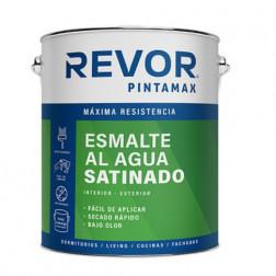 Esmalte Agua Blanco 1gl Satin Pintamax Revor