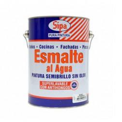 Esmalte Agua Bco Semibrillo 1gl Sipa
