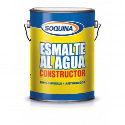 Esmalte Agua Const. 1gl Blanco Soquina