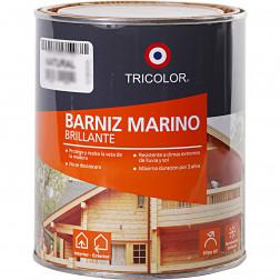 BARNIZ 1/4GL MARINO CAOBA TRICOMAR TRICOLOR.