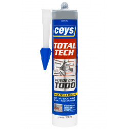 ADHESIVO/SELLADOR 290ML GRIS TOTALTECH CEYS