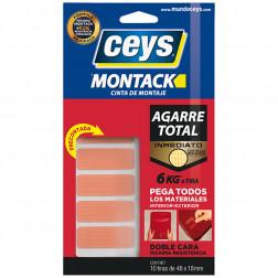 Cinta De Montaje Express Montack 10tiras 48x18mm Ceys