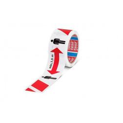 Cinta Para Distanciamiento Roja/blanca 50mmx50mt Tesa