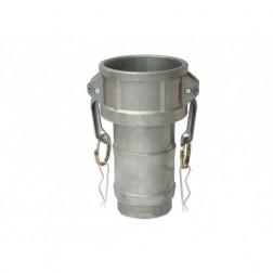 Acople Camlock Hembra Espiga Aluminio 3'' Hoffens