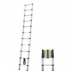 Escalera 11 Peld Telescopica Aluminio P/150kg