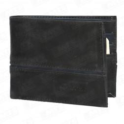 Billetera Cuero Hombre 6286 Negro/azul