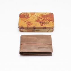 Billetera Cuero Hombre 6286 Tabaco/rojo