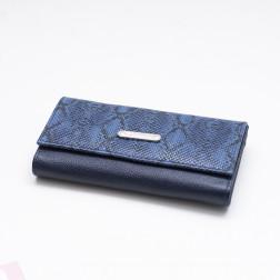 Billetera Cuero D Mediana 8769 Azul
