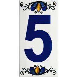Numero Ceramica Decoralia 5