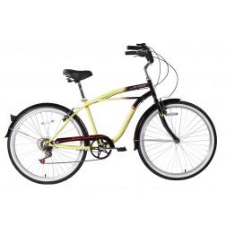Bicicleta Aro 26 Paseo Beach Amarillo Lahsen