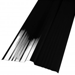 Caballete Recto Negro 0.40*402*3000mm P/tej. Curva