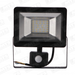 Reflector Led  20w C/ Sensor Ultra Plano 6500k Ip65 Vkb