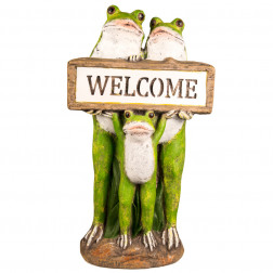 RANA DECORATIVA JARDIN 56CM WELCOME BIGHOUSE