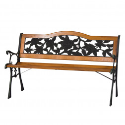 Banco EscaÑo Metal/madera 130*60cm Rosas Bighouse