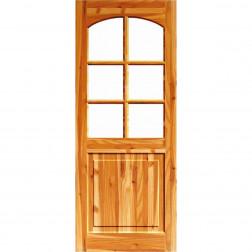 Puerta Acc. P/oregon 45*90*2mt 1/2 Cuerpo C/vidrio Templado