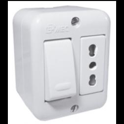 Interruptor Sobrep 9/12+ench 10/16 Bco Aris Mec