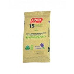 Toallas Desinfectante 15un Biodegrable Limon Fibro