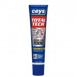 Sellador Poliuretano 125ml Transp Totaltech Ceys