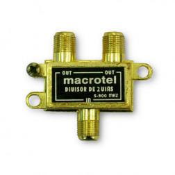 Spliter 1 Entrada 2 Salidas 75 Ohm Macrotel