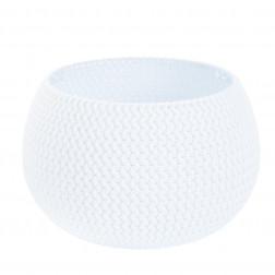 Macetero Esfera 370mm Blanco Splofy