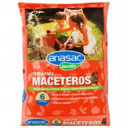 Tierra P/macetero 6lt Anasac