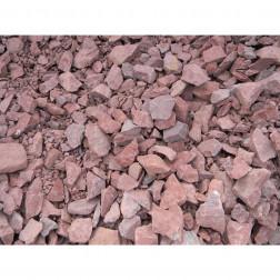 Piedra Decorativa 25kg Gravilla Roja Fvh