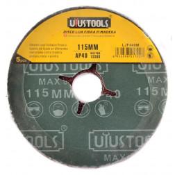 Disco Lijador Madera 41/2 Gr40 Set 5un Uyustools