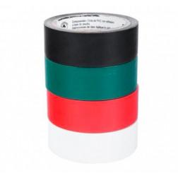 Huincha Aisladora Pack 4un 19mm*5mt Colores 3m