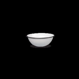 Bowl 14cm Blanco C/borde Negro