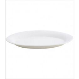 Plato 30.5cm Ovalado Porcelana Blanca Hallen
