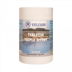 CLORO PISCINA TABLETA TRIPLE ACCION 1KG VULCANO