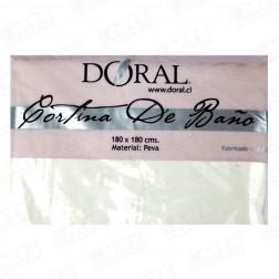 Forro Cort Baño 1.80*1.80 Blanco Peva Doral