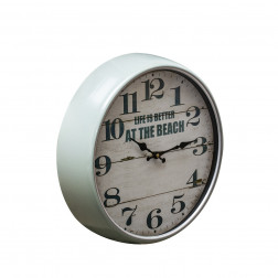 Reloj Pared 70cm Vintage Gris Bighouse
