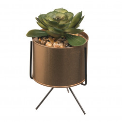 PLANTA ARTIFICIAL MACETERO 2 METAL BASE BIGHOUSE