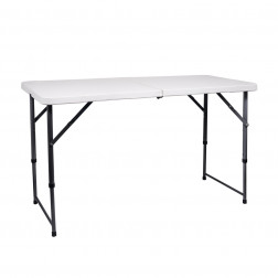 MESA PLEGABLE 120X60CM BLANCA BIGHOUSE