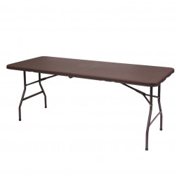 MESA PLEGABLE 180X74CM RATAN CAFE BIGHOUSE