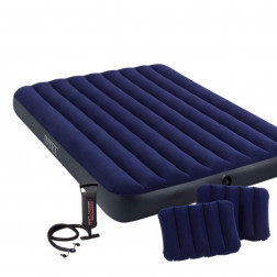 Colchon Inflable 2.0pl Azul Con Infl2cojin Intex