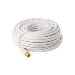 Cable Coaxial C/term F Blanco 7.5mt Macrotel
