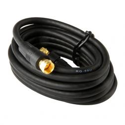 Cable Coaxial C/term F Negro 5mt Macrotel