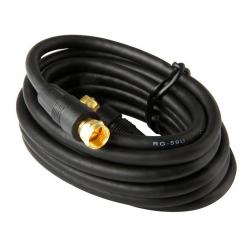 Cable Coaxial C/term F Negro 3mt Macrotel