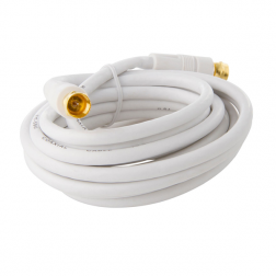 CABLE COAXIAL C/TERM F BLANCO 3MT MACROTEL