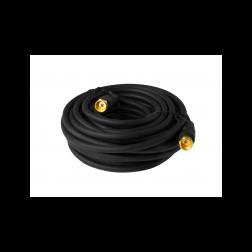 Cable Coaxial C/term F Negro 1mt Macrotel