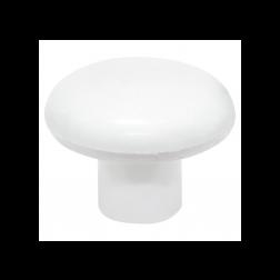Perilla Plast. Cristal 38mm Blanco Dvp