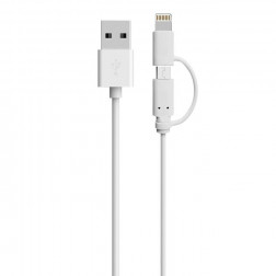 Cable 2 En 1 - Iphone Y Micro Usb Macrotel