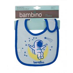 Babero Azul Toalla Bambino