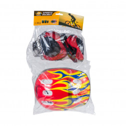 EQUIPO PATINAJE SPORTS HELMET ROJO BIGHOUSE